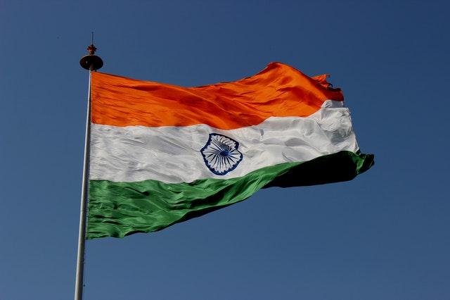 Bandera de India. Símbolo del Estado.